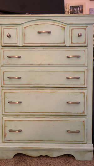Antique dresser - teal color for Sale in Costa Mesa, CA