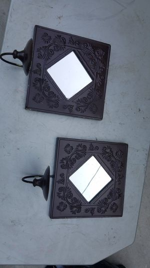 2 candle holder wall decor mirror for Sale in Houston, TX