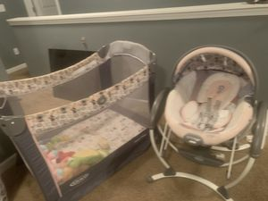 Mickey Mouse Play Pin & Swing/Bouncer for Sale in College Park, GA