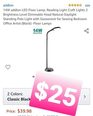 4W addlon LED Floor Lamp: 2 Brightness Level Dimmable, Luz, lampara for Sale in Chino, CA