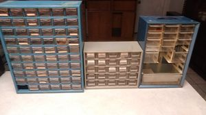 (3) Fastener Storage Bins & Welding Goggles w/ replacement lens. for Sale in Alexandria, LA