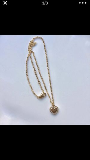 Mk Michael kors gold tone heart necklace chain pendant for Sale in Silver Spring, MD