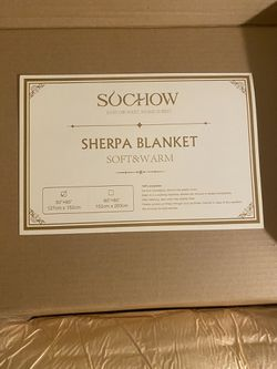 """Sherpa blanket 50"""" x 60"""" color yellow for Sale in Perris,  CA"""