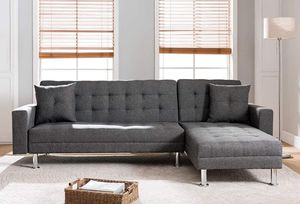 New Grey Fabric Reversible Sofa Futon Couch - Financing Available for Sale in Stanton, CA