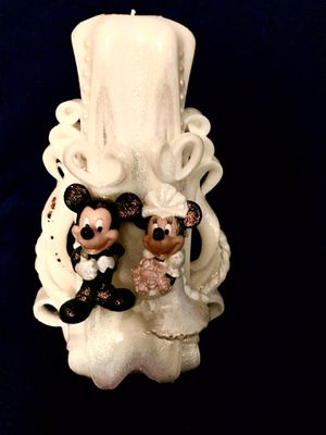 Mickey N Minnie Candle Wedding Topper for Sale in Pompano Beach, FL
