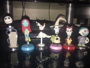 Nightmare Before Christmas 6 pc Character Set for Sale in Tampa, FL