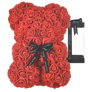 Rose Bear Rose Teddy Bear Best Gift for Valentines Day, Anniversary, Birthdays & Bridal Showers Fully Assembled 10 inch Flower Bear for Sale in Miami, FL
