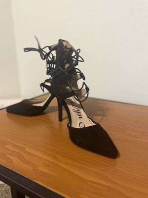 Black Lace suede heels sz. 8 for Sale in Orlando, FL