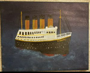 "Titanic paint 10""x8"" for Sale in Garden Grove, CA"