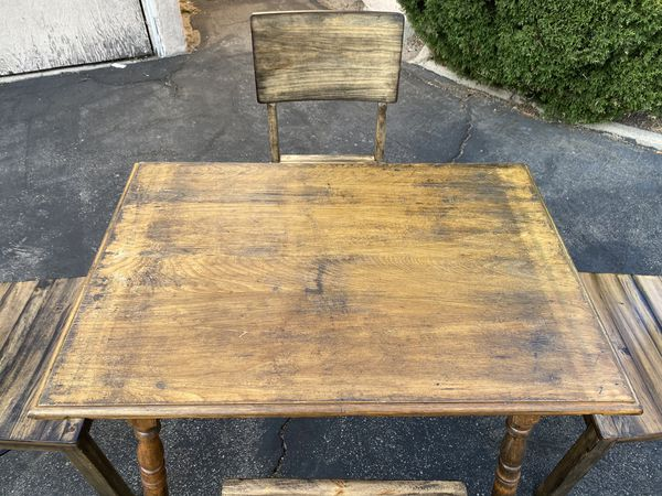 Moving! Antique Drop Leaf Dining Table with Four Chairs!