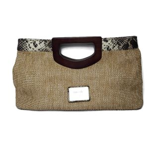Nicole by Nicole Miller Straw Clutch Bag for Sale in Temecula, CA