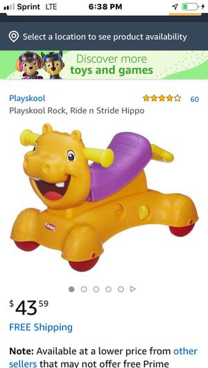 Playskool Rock, Ride n Stride Hippo for Sale in Round Lake, IL