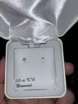 1/5 New Diamond Earrings for Sale in Burke, VA