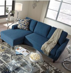Jarreau Blue Sofa Chaise Sleeper🌟😍 Only Houston $39 down payment 👍 Same day delivery🚚 for Sale in Houston,  TX
