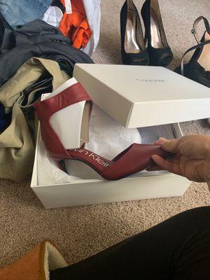 Sz 5.5 rajon nappa Calvin Klein red never worn for Sale in Centreville, VA
