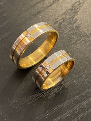 14K Gold plated Matching Ring Set- Diamond 💍 for Sale in Jacksonville, FL