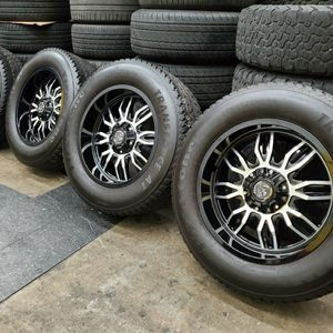 """20"""" Wheels rims and used tires 33"""" tires for Sale in Santa Ana, CA"""