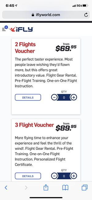 iFLY voucher available for sale! Indoor Skydiving! for Sale in Portland, OR