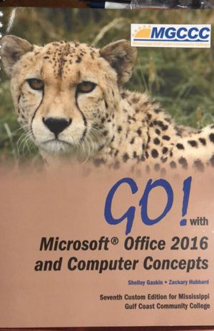 MGCCC Microsoft Office 2016 and Computer Concepts for CSC 1123 for Sale in Biloxi, MS