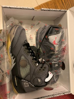 Air Jordan 5 Off-White Size 10 for Sale in Montclair, CA