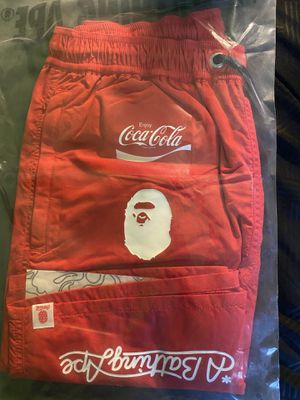 Bape x Coca Cola Shorts Red Size S for Sale in Berkeley, CA