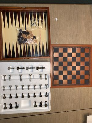 4 Game-Set (Chess, Checkers, Backgammon, Tic-tac-toe) for Sale in Pepper Pike, OH
