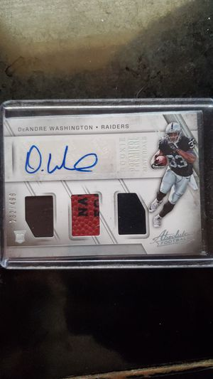 Deandre Washington rookie card for Sale in Streamwood, IL