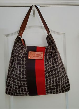 Kate Spade Noel Chocolate Brown +Red canvas for Sale in Clermont, FL