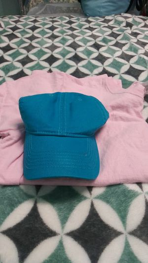 Blue adjustable hat & a XL Pink adult short sleeve shirt for Sale in Gastonia, NC