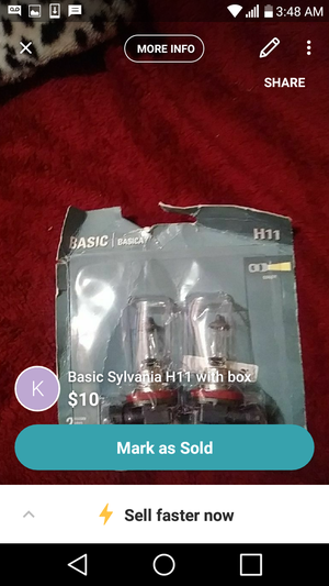 Sylvania basic headlights h-11 for Sale in Philadelphia, PA