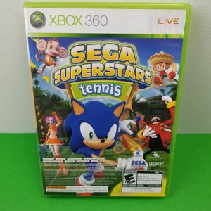 Sega Superstars Tennis (Microsoft Xbox 360, 2008) CLEANED AND TESTED for Sale in Hephzibah, GA