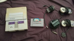 Super Nintendo with Mario kart and 2 controllers for Sale in Columbus, OH