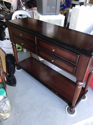 Bombay entry table sofa table tv stand 47.5x16 h 32 some marks on bottom shelf can be stained for Sale in Davie, FL