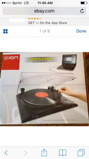 New ion audio profile pro MP3 conversion turntable w aux input ... Brand new only $50 or best offer for Sale in National City, CA
