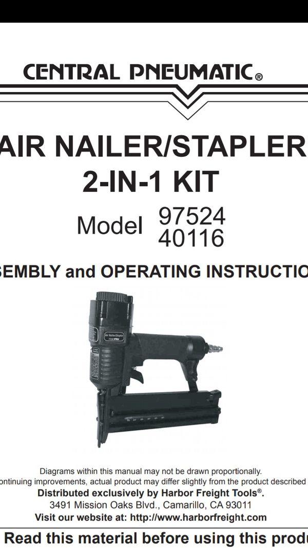 Pneumatic air staple and nail gun