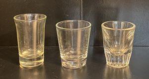 Set Of 3 Tequila Glass Shot Glasses for Sale in Chapel Hill, NC