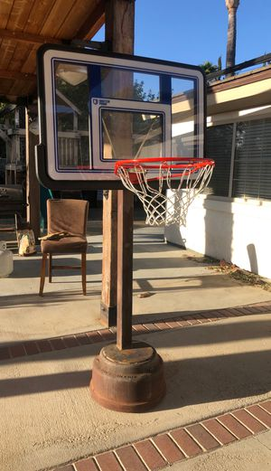 Basketball hoop welded onto drum well for Sale in Riverside, CA