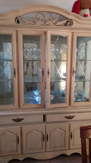 2 Piece Large China Cabinet Hutch for Sale in Costa Mesa, CA