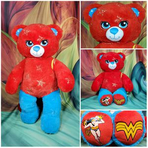 "Build A Bear Wonder Woman Plush 16"" DC Comics Stuffed BAB Teddy EUC for Sale in Dale, TX"