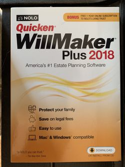 Quicken Willmaker Plus 2018-Never Used for Sale in Greenville,  SC