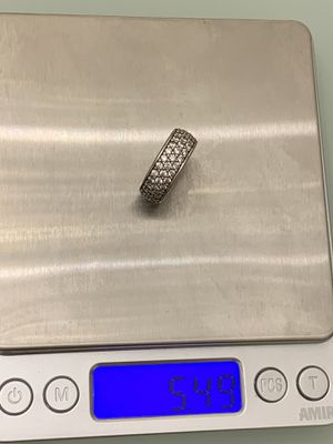 Solid real 925 sterling silver iced out stones buss down ring for Sale in The Bronx, NY