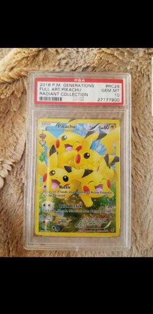 PSA 10 Gem Mint Full Art Holo Pikachu Radiant Collection Pokemon Card for Sale in Gilbert, AZ
