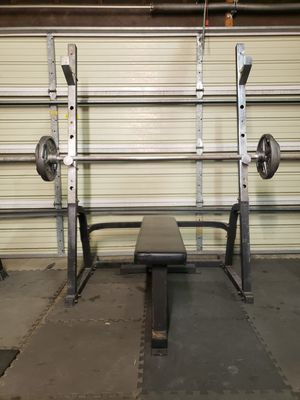 Squat/Bench Press Home Gym Bundle for Sale in Lakewood, CA
