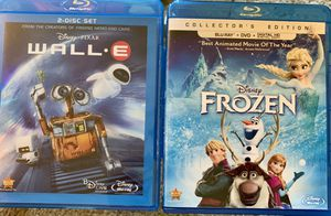 2 blu-Ray dvd Movies - like new Wall-E & Frozen for Sale in Snohomish, WA