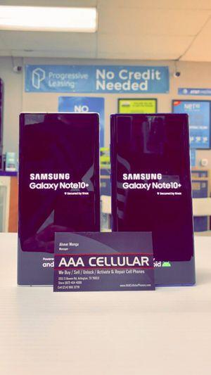 Galaxy Note 10+ 256GB Factory Unlocked / ATT Cricket T-Mobile Metro Starting @ for Sale in Arlington, TX