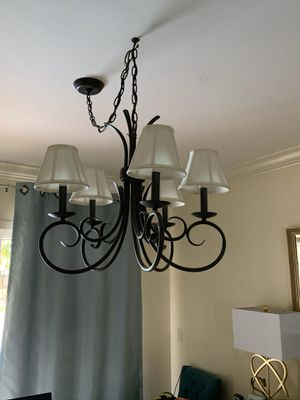 Chandelier with shades for Sale in Plantation, FL