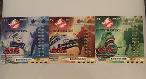 Lot of 3 Arizona Lottery Ghostbusters Scratchers Tickets mostly Un-scratched for Sale in Surprise, AZ