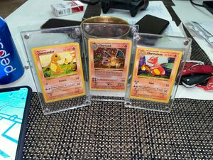 Pokemon cads charizard and the fam Shadowless for Sale in Glendale, AZ
