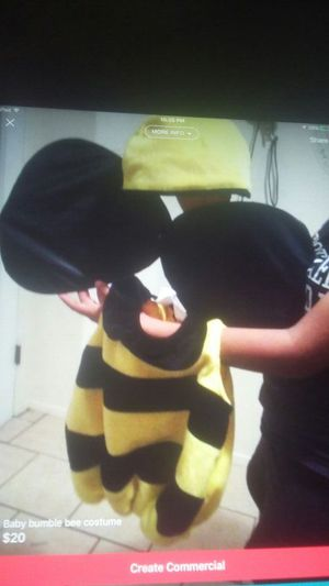 Baby bumble bee costume for Sale in El Paso, TX