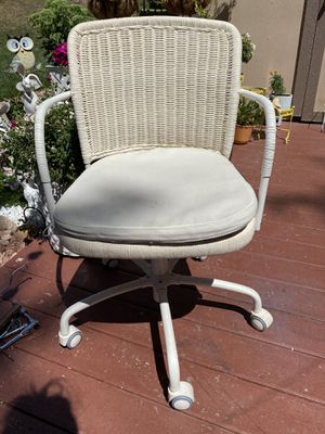 Rolling chair - cream for Sale in Aurora, CO